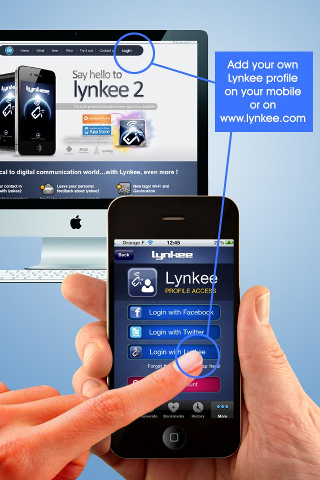 Our free iphone QR code reader app (Lynkee) now in 2 1 version  